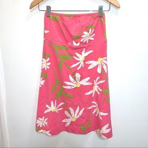 Lilly Pulitzer strapless cotton sundress